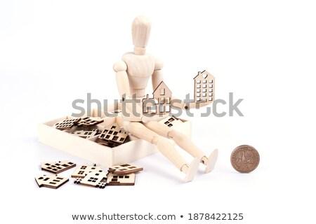 Boneca moedas dólares negócio dinheiro Foto stock © pterwort