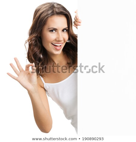 Young happy woman showing okay sign Stock photo © rosipro