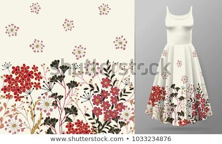 Decorativo floral padrão fronteira quadro bebê Foto stock © creative_stock