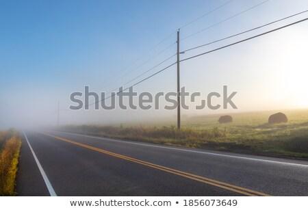 nebuloso · quadro · paisagem · linha · do · horizonte · nuvem · poder - foto stock © Stootsy