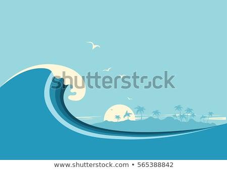 Surfer wave background vector Stock photo © krabata