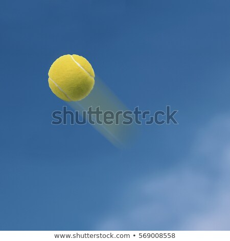 Tennis Ball in Sky Blue Background  Stock photo © tab62