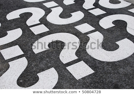 question mark painted on a road stock photo © lightsource