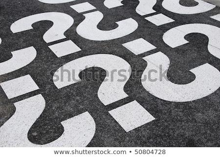 cevaplar · önde · yol · işareti · yüksek · karar · grafik - stok fotoğraf © lightsource