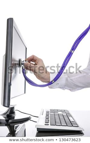 computer server and stethoscope	 Stock photo © 4designersart