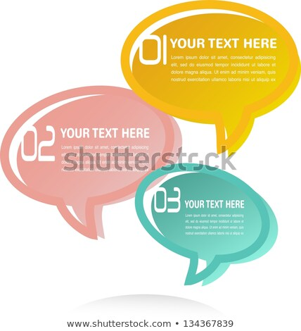Translucent Thought Bubbles Infographic Business Background Stock photo © lipmic