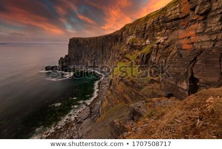 sziklák · Írország · óceán · köztársaság · Európa · felhők - stock fotó © julietphotography