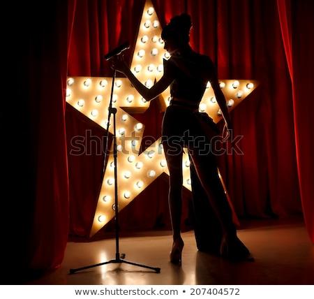 кабаре женщину силуэта музыку Dance тело Сток-фото © anastasiya_popov