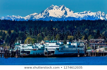 Bainbridge Island Ferry Dock  Mount Olympus Washington Stock photo © billperry