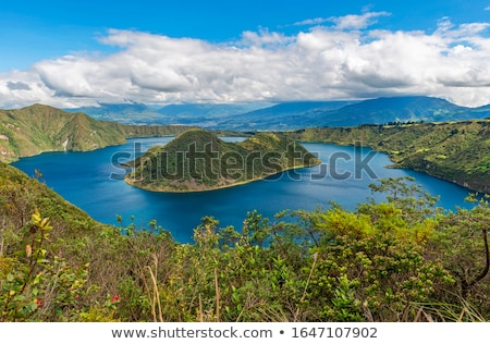 Lake Cuicocha Colors stock photo © rhamm