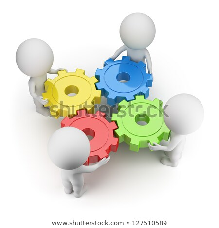 3d small people   reliable team stock photo © anatolym