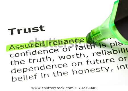 Trust definition in a dictionary Stock photo © sqback