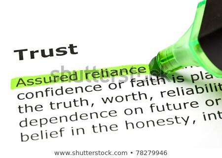 igazság · meghatározás · őszinteség · jelentés · sportszerűség · igazi - stock fotó © sqback