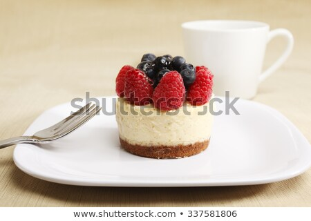 cheesecake and cup of coffee stock photo © doupix