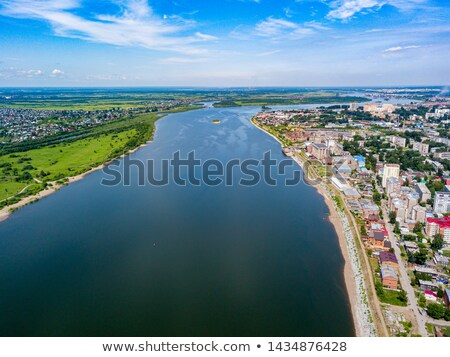 Sunset on the River of Tomsk in Siberia, Russia Stock photo © anshar