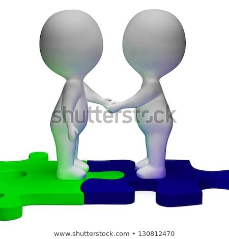 handdruk · groet · man · handen · schudden · vergadering · deal - stockfoto © stuartmiles