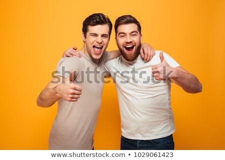 Człowiek gest strony coś umowy Zdjęcia stock © hd_premium_shots