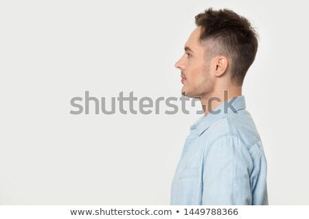 модный · случайный · человека · позируют · один · сторона - Сток-фото © stockyimages
