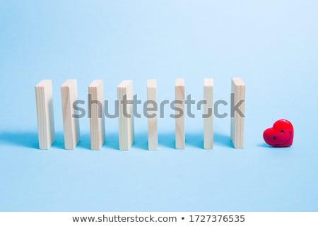 domino with hearts stock photo © silense