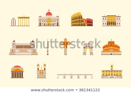 Ватикан икона город Церкви религии итальянский Сток-фото © Myvector
