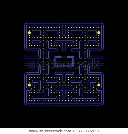 Wektora screenshot starych stylu gra komputerowa zdjęcie Zdjęcia stock © pzaxe