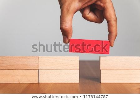 Köprü boşluk dizayn kırmızı siyah başarı Stok fotoğraf © silense