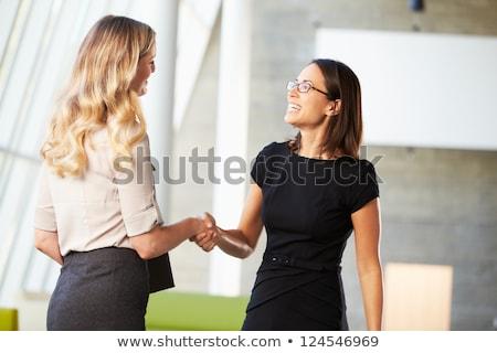 Business handshake by two women Stock photo © Kzenon
