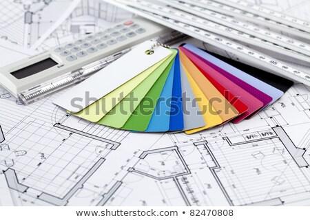 Paletine renkler tasarımlar mimari çizimler iç Stok fotoğraf © Vladimir
