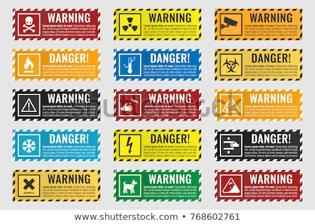 Yellow Warning Sign -  Isolated Stock photo © iqoncept