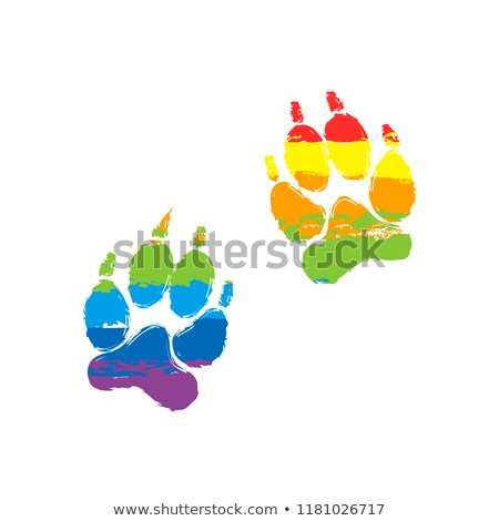 abstract paw print spectrum stock photo © burakowski