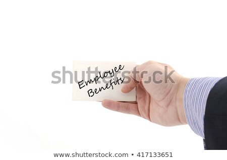 Benefits White Marker Stock photo © ivelin