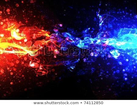 Stockfoto: Vurig · realistisch · explosie · rook · macht