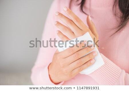 женщину влажный стороны блюдо полотенце Сток-фото © jaycriss