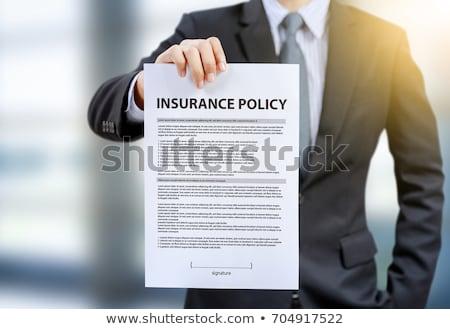 Ubezpieczenia polityka dokumentu Kalkulator Zdjęcia stock © devon