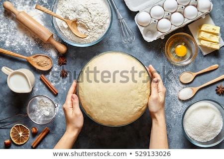 Gâteau ingrédients outils beurre oeufs Photo stock © Tagore75