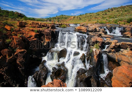 Stock photo: waterfall at the bourkes potholes in south africa