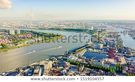 aerial view to the center of antwerp from the roof stock photo © anmalkov