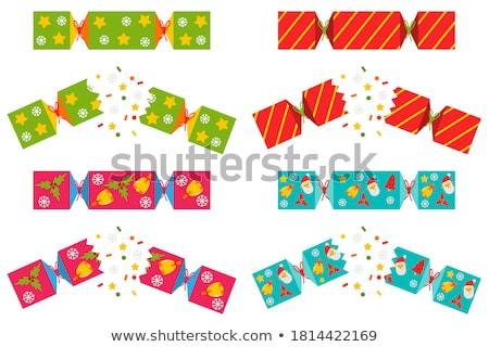 изолированный · Рождества · вечеринка · фон · зеленый · белый - Сток-фото © jenbray