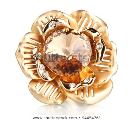 Zseniális arany virág értékes kövek illusztráció Stock fotó © yurkina