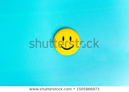 カラフル スマイリー 孤立した 白 笑顔 目 ストックフォト © anmalkov