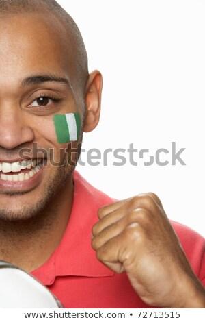 banderą · Nigeria · duży · rozmiar · ilustracja · kraju - zdjęcia stock © monkey_business