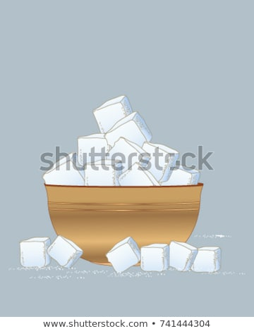 Bol sucre blanche alimentaire Photo stock © russwitherington