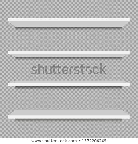 Rack plateau propre blanche fond mode de vie Photo stock © c-foto
