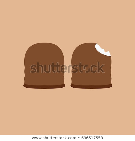 Chocolate coated marshmallow Stock photo © homydesign