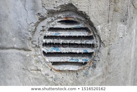 Vecchio ventilazione coperto metal bianco muro Foto d'archivio © ondrej83