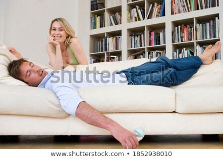 женщину спальный плечо красивой устал молодые Сток-фото © d13