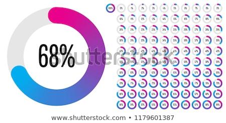 Percentage 3D gegenereerde foto business geld Stockfoto © flipfine