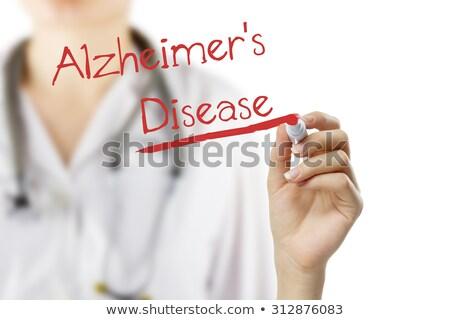 diagnosi · medici · arancione · offuscata · testo - foto d'archivio © zerbor