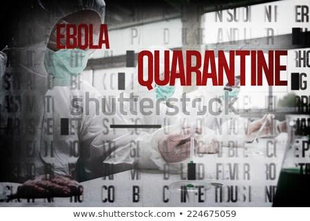 Composite image of ebola word cluster Stock photo © wavebreak_media