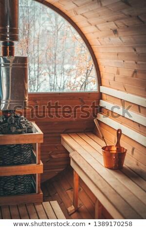 Wooden sauna Stock photo © BigKnell
